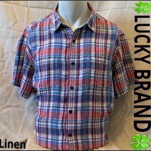 🍀LUCKY BRAND-Linen shirt